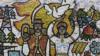 Ukraine - Soviet-era mosaics - AP screen grab