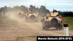 Ամերիկյան ստորաբաժանումը Լեհաստանում մասնակցում է զորախաղերին, Դրավսկո Պոմորսկե, 7 հուլիսի, 2020թ.