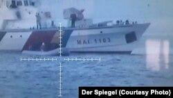 Nava românească MAI 1103, aparținând Poliției de Frontieră, se afla într-o misiune Frontex în Marea Egee când ar fi blocat fizic o barcă cu solicitanți de azil să ajungă pe malul grecesc.