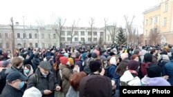 RUSSIA, rally in support of Navalny in Irkutsk