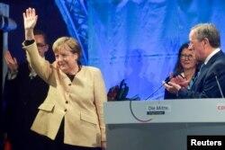 Angela Merkel l-a susținut pe Armin Laschet în campania electorală