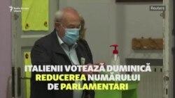 Italienii decid într-un referendum reducerea numărului de parlamentari