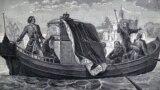Петро І перевозить мощі Олександра Невського до Санкт-Петербурга. Гравюра ХІХ століття