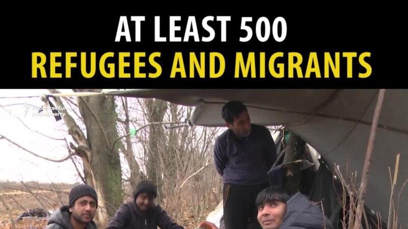 Migrants Sleep In Makeshift Camps In Serbia