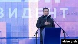 Садыр Жапаров Ала-Тоо аянтында. 11-январь, 2021-жыл.