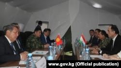 Встреча правительственных делегаций Кыргызстана и Таджикистана. 1 мая 2021 года.