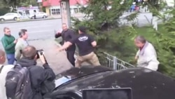 Altercation Near The Russian Embassy In Kyiv