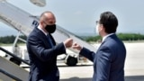 NORTH MACEDONIA - President of Bulgaria and president of North Macedonia, Rumen Radev and Stevo Pendarovski, Skopje, 26 May 2021