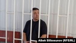 Мелис Аспеков в зале суда. Май 2021 года.