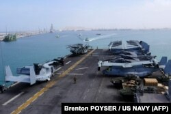 ناو آبی-خاکی USS Iwo Jima در دریای عمان