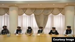 Делегация во главе с главой политического офиса движения «Талибана» муллой Абдул Гани Барадаром в Ашхабаде.