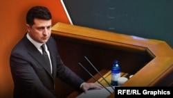Президент України Володимир Зеленський на трибуні Верховної Ради, ілюстративне фото