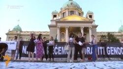ТВ вести - Свеќи во Белград за Сребреница