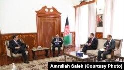 په افغانستان کې د ناټو ملکي استازی سټېفانو پونتې کورفو د افغان ولسمشر له لومړي مرستیال امرالله صالح سره ولیدل
