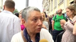 Людмила Улицкая на акции в защиту Кирилла Серебренникова