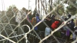Migrants Break Through Greek-Macedonia Border