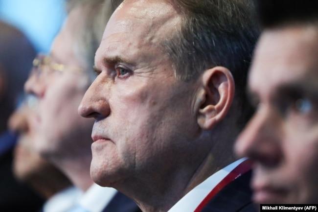 Голова політичної ради партії «Опозиційна платформа – За життя» Віктор Медведчук бере участь у пленарному засіданні 5-го Східного економічного форуму у Владивостоці, Росія 5 вересня 2019 року