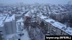 Сніг у Сімферополі, 17 січня 2021 року