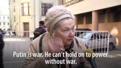 Babushka Speaks Out Against 'Lying, Stealing' Putin