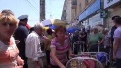 Tbilisi bazarında polislə qarşıdurma