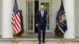 U.S. President Joe Biden salutes as he arrives to speak about the coronavirus disease (COVID-19) response and the vaccination program from the Rose Garden of the White House in Washington, U.S., May 13, 2021.