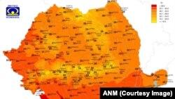 Codul portocaliu începe să se extindă în România, temperaturile foarte ridicate fiind extrem de periculoase.