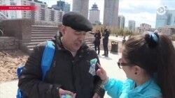 Азия: в Казахстане раздают голубые ленточки вместо георгиевских