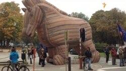 Барикади й Троянський кінь під Єврорадою у Брюсселі