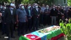 Әзербайжан шекарадағы қақтығыстан қаза тапқандарды жерледі