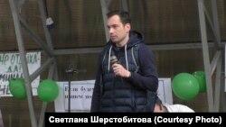 Алексей Ворсин на митинге в Заветах Ильича. 20 сентября 2020 года