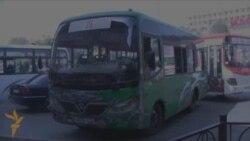 2 aprel mitinqində zərər çəkmiş avtobus