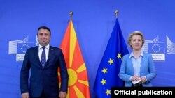 Средба на премиерот Зоран Заев и на Претседателката на ЕК, Урсула фон дер Лајен во Брисел