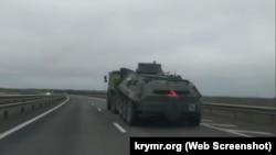Rusiye arbiy tehnikasınıñ Qıırmda Tavrida yolu boyunca avuşuvı, 2021 senesi mart ayı