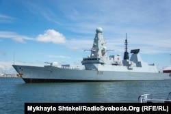 HMS Defender на заході в порт Одеси, 18 червня 2021 року