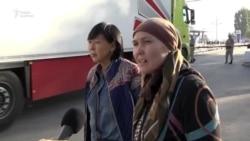Очереди на границе Казахстана с Кыргызстаном
