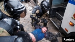 Задержания на акции протеста 31 января в Москве
