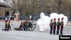 Салют в память о принце Филиппе, 10 апреля 2021
