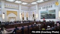 سخنرانی محمد اشرف غنی رئیس جمهور افغانستان در کارگاه تعقیب و تحقق تعهدات نشست ۲۰۲۰ ژنیو در ارگ ریاست جمهوری