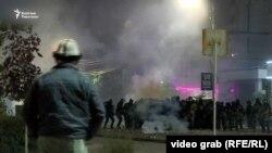برخورد پولیس با معترضان در قرغزستان