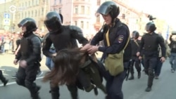 Russian Police Break Up Opposition May Day March In St. Petersburg