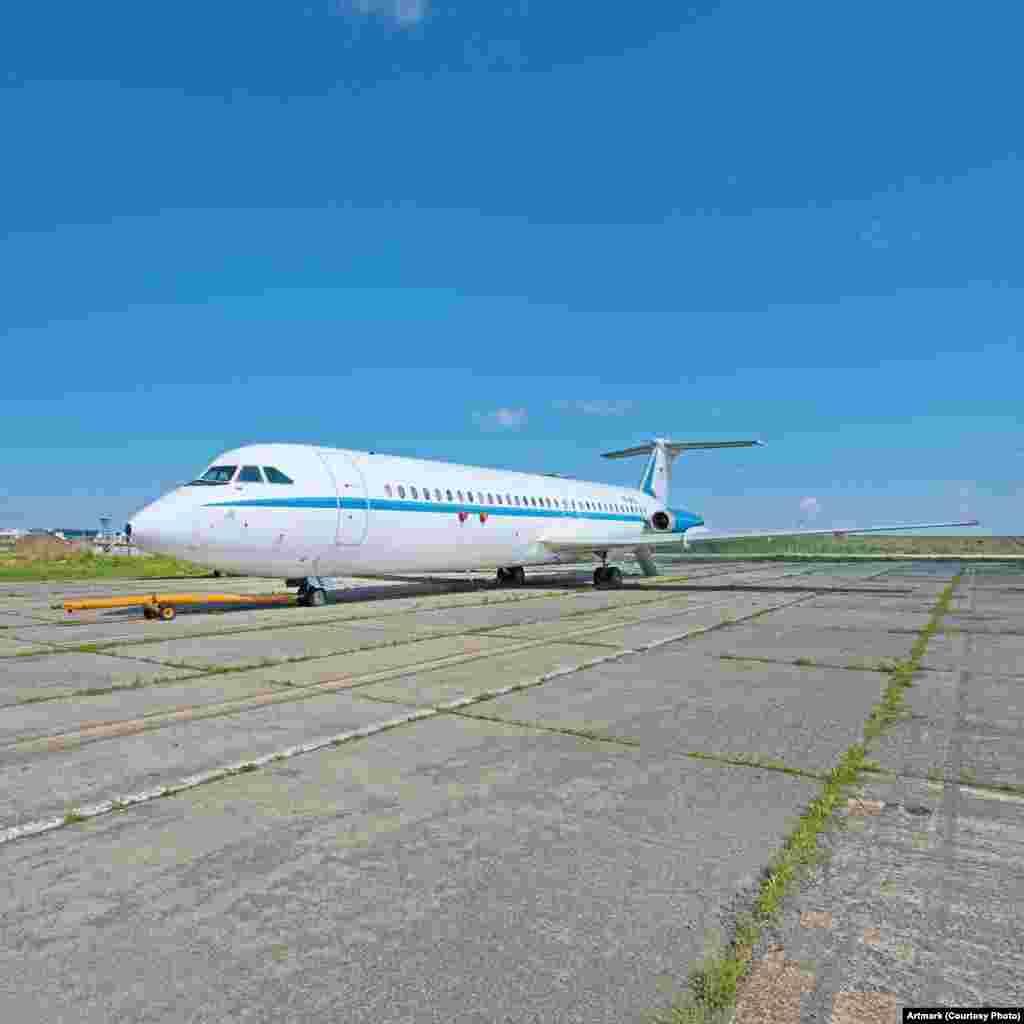 """Avionul prezidențial """"Super One-Eleven"""", folosit pentru zborurile oficiale ale președinților Nicolae Ceaușescu."""