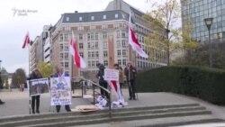 Protest anti-Lukașenka la Bruxelles