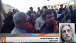 Антивоенное шествие в Петербурге