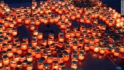 День памяти и скорби: 1418 свечей на Поклонной горе