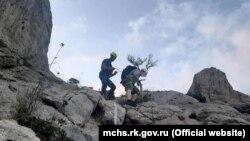 Евакуація туриста з гори Сокіл