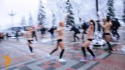Članice FEMEN-a protestirale gole u Kijevu