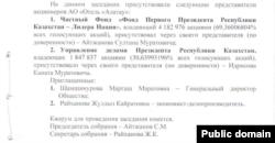 Белдибидеги Rixos мейманканасынын ээлеринин бири катары чыккан «Отель «Алатау» АК акционерлери тууралуу документтин скриншоту. Булагы — gr5.gosreestr.kz.