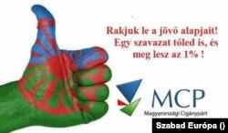 A Magyarországi Cigánypárt választási plakátja.