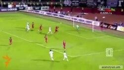 ԼՂ դրոշը՝ ադրբեջանցի ֆուտբոլասերների զայրույթի պատճառ