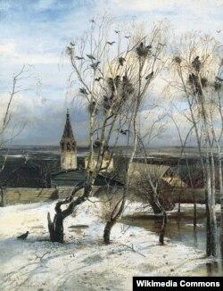 Аляксей Саўрасаў. Гракі прыляцелі. 1871